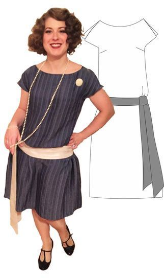 "Download 20s Flapperdress ""Shimmy - Sewing Patterns immediately at Makerist"