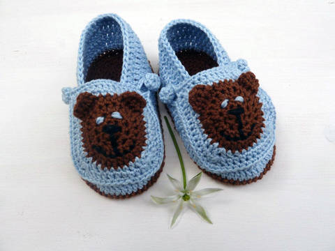 Häkelanleitung Babyschuhe für Jungs bei Makerist sofort runterladen