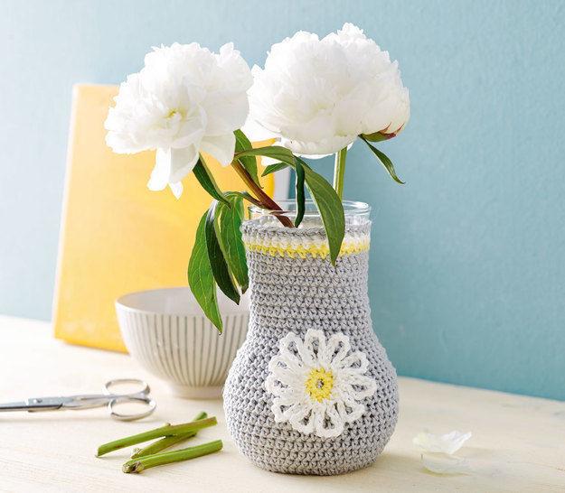 Dekorative Mini-Vase Häkelanleitung - Häkelanleitungen bei Makerist sofort runterladen
