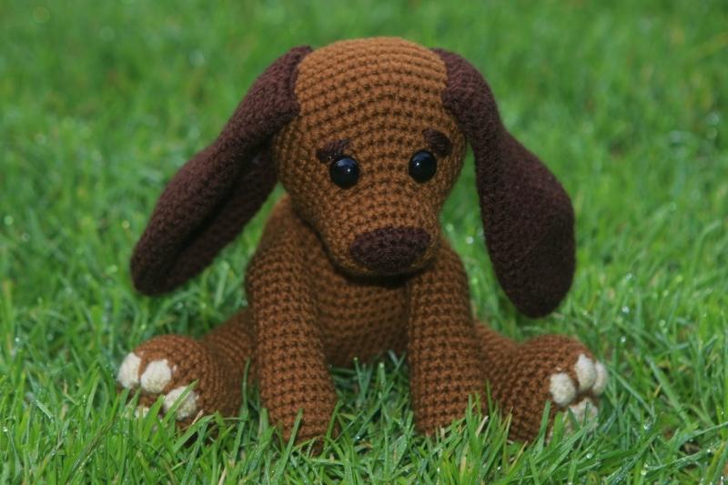 Häkelanleitung Hund Lisa
