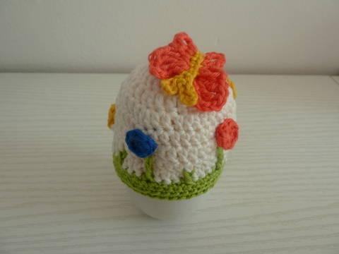 Häkelanleitung Eierwärmer Blumenwiese bei Makerist sofort runterladen