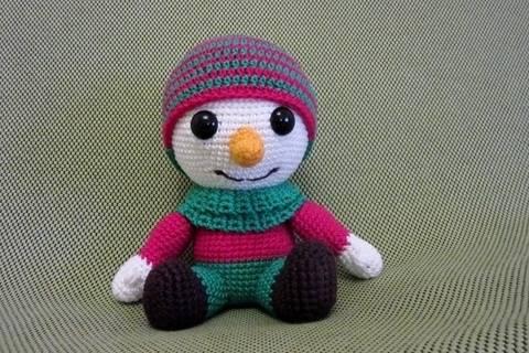Häkelanleitung Frosty, der Schneemann bei Makerist sofort runterladen