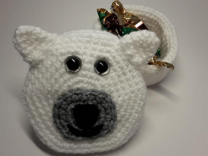 Eisbär Geschenkschachtel / Größe M – Häkelanleitung   - Häkelanleitungen bei Makerist sofort runterladen
