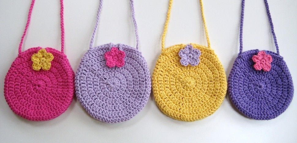 Download Crochet bag, Easy round circle bag, Pattern No3, with long strap, in both UK and US crochet terms - Crochet Patterns immediately at Makerist