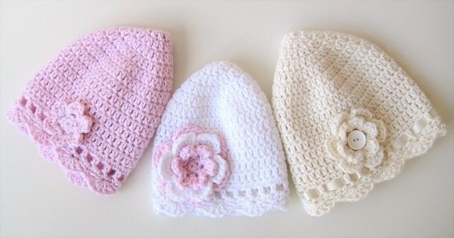 Download Crochet Hat, Classic Baby Hats, Pattern No1, in both UK and US crochet terms - Crochet Patterns immediately at Makerist