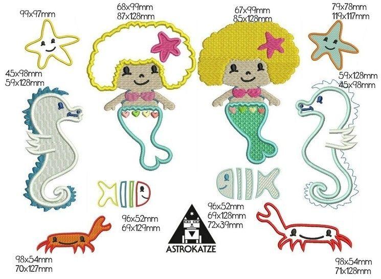 Stickdatei Pedro und Freunde unter Wasser von Astrokatze - Stickdateien bei Makerist sofort runterladen