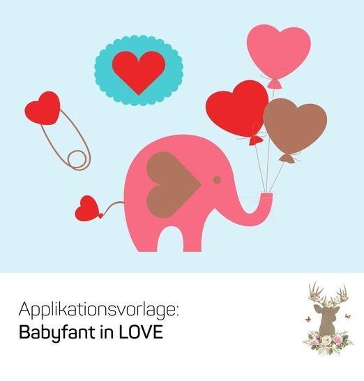 "Applikation ""Babyfant in LOVE"" - Nähanleitungen bei Makerist sofort runterladen"