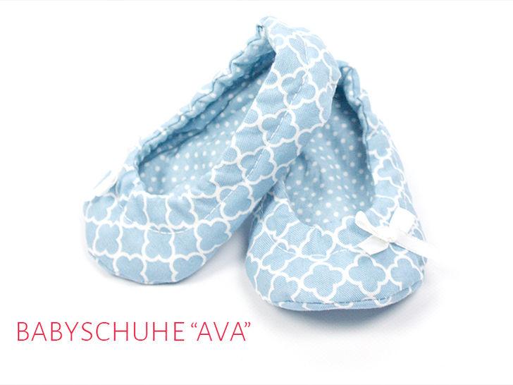 "Babyschuhe ""Ava"" Gr. 14 - 19 - Nähanleitungen bei Makerist sofort runterladen"
