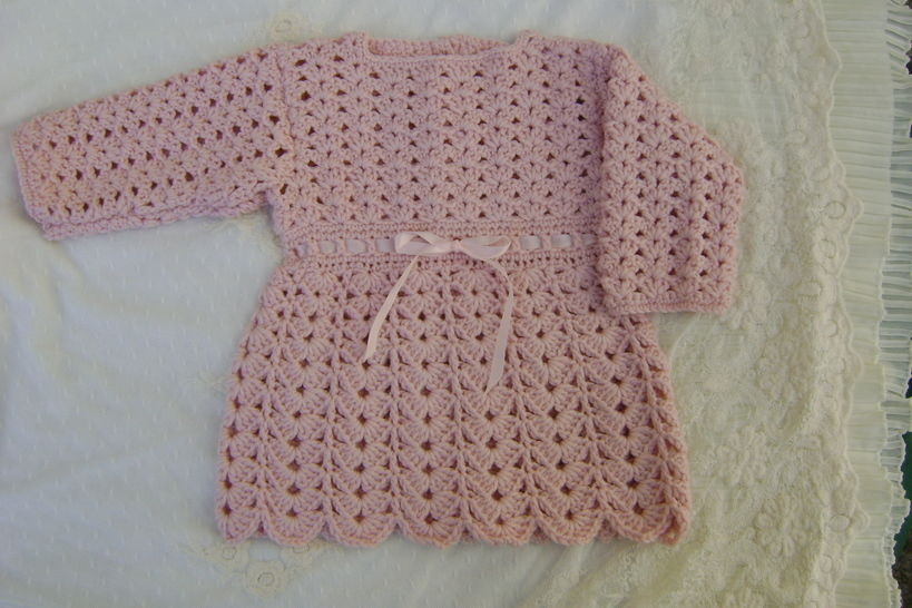 Download Baby Girl Crochet Dress - Crochet Patterns immediately at Makerist