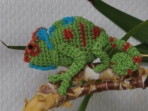 Download Chamaeleon crochet pattern - Crochet Patterns immediately at Makerist
