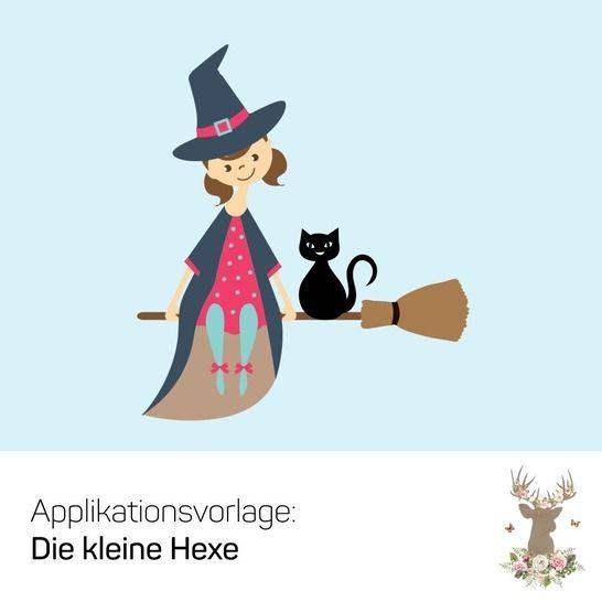 """Applikation """"Die kleine Hexe"""" - Nähanleitungen bei Makerist sofort runterladen"""