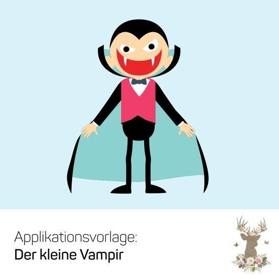 """Applikation """"Der kleine Vampir"""" - Nähanleitungen bei Makerist sofort runterladen"""