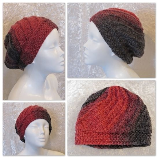 Download Knitting pattern hat, beanie, toque, slouch Beria - Knitting Patterns immediately at Makerist