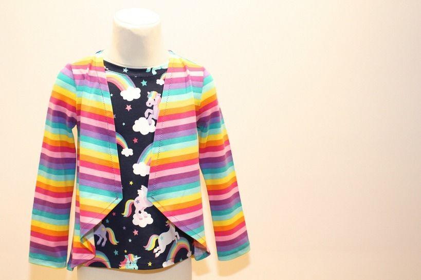 ✂Schnittmuster Tina ✂ Dein Jäckchen-Shirt - Nähanleitungen bei Makerist sofort runterladen