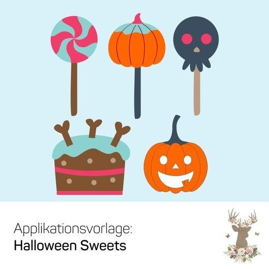 "Applikation ""Halloween Sweets"" - Nähanleitungen bei Makerist sofort runterladen"
