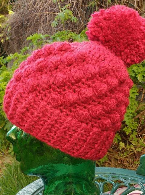 Download Bobble and Pom Pom Crochet Hat immediately at Makerist
