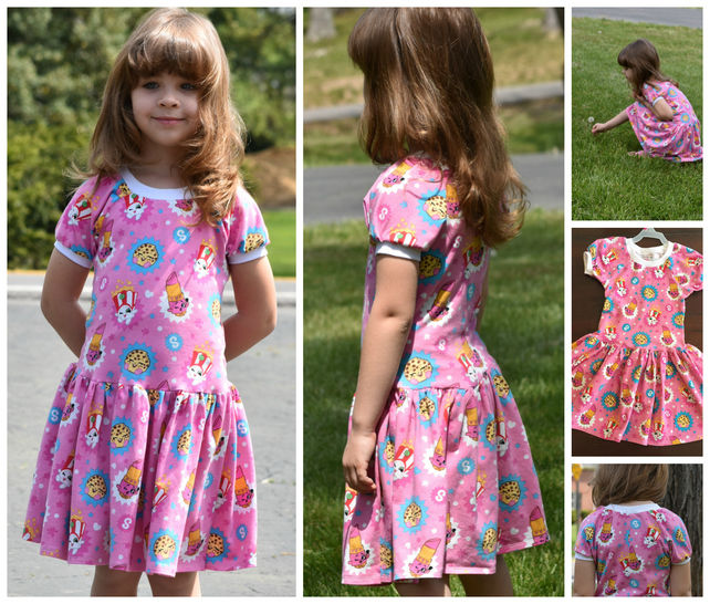 Download GIRLS DRESS, TUNIC, SEWING PATTERN, LONG SLEEVES, SHORT SLEEVES, KNIT FABRICS, EASY BEGINNER - Sewing Patterns immediately at Makerist