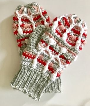 Download Alpine Icicle Ladies Mittens - Crochet Patterns immediately at Makerist