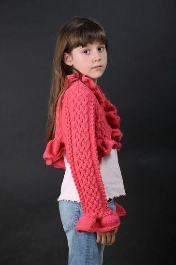 Gabriella - wunderschöne kurze Bolero-Jacke mit romantischem Volant - Strickanleitungen bei Makerist sofort runterladen
