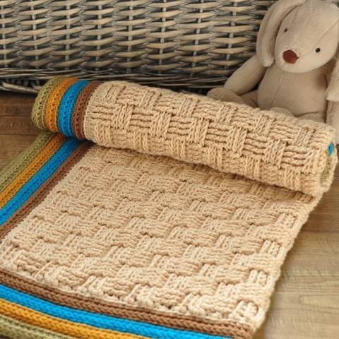 Download Retro Baby Blanket - Crochet Pattern immediately at Makerist