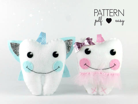 Download Tooth Fairy Pillow Sewing Pattern - Ballerina & Fairy immediately at Makerist