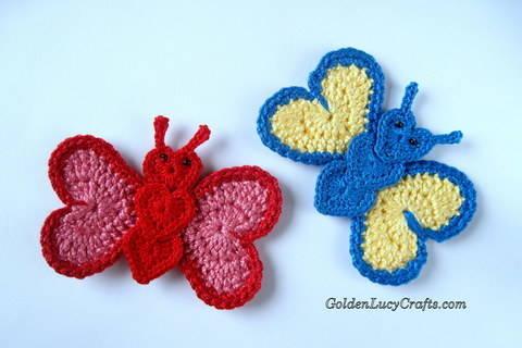 Download Crochet Pattern Butterfly Applique immediately at Makerist
