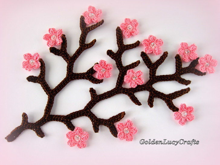 Download Crochet Pattern Cherry Branch  - Crochet Patterns immediately at Makerist