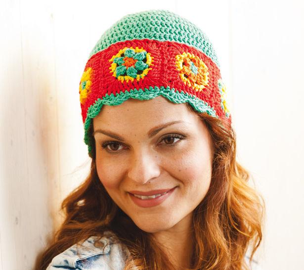 Bunte Hippie-Mütze Häkelanleitung - Häkelanleitungen bei Makerist sofort runterladen