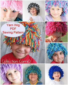 Download Yarn Wig Sewing Pattern for Children and Adult - Sewing Patterns immediately at Makerist