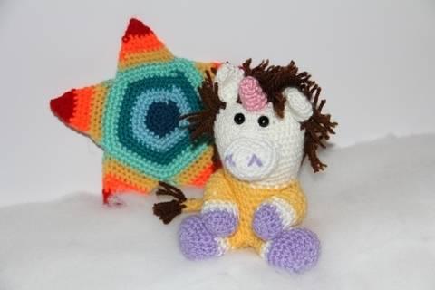 Häkelanleitung - Sternzeichen Einhorn - Löwe bei Makerist sofort runterladen