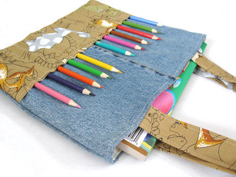 Download Coloring bag sewing pattern - Art bag for children tutorial - Sewing Patterns immediately at Makerist