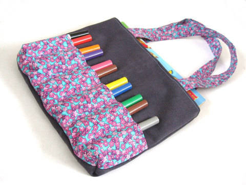 Download Markers Bag Sewing Pattern - Art bag for children tutorial immediately at Makerist