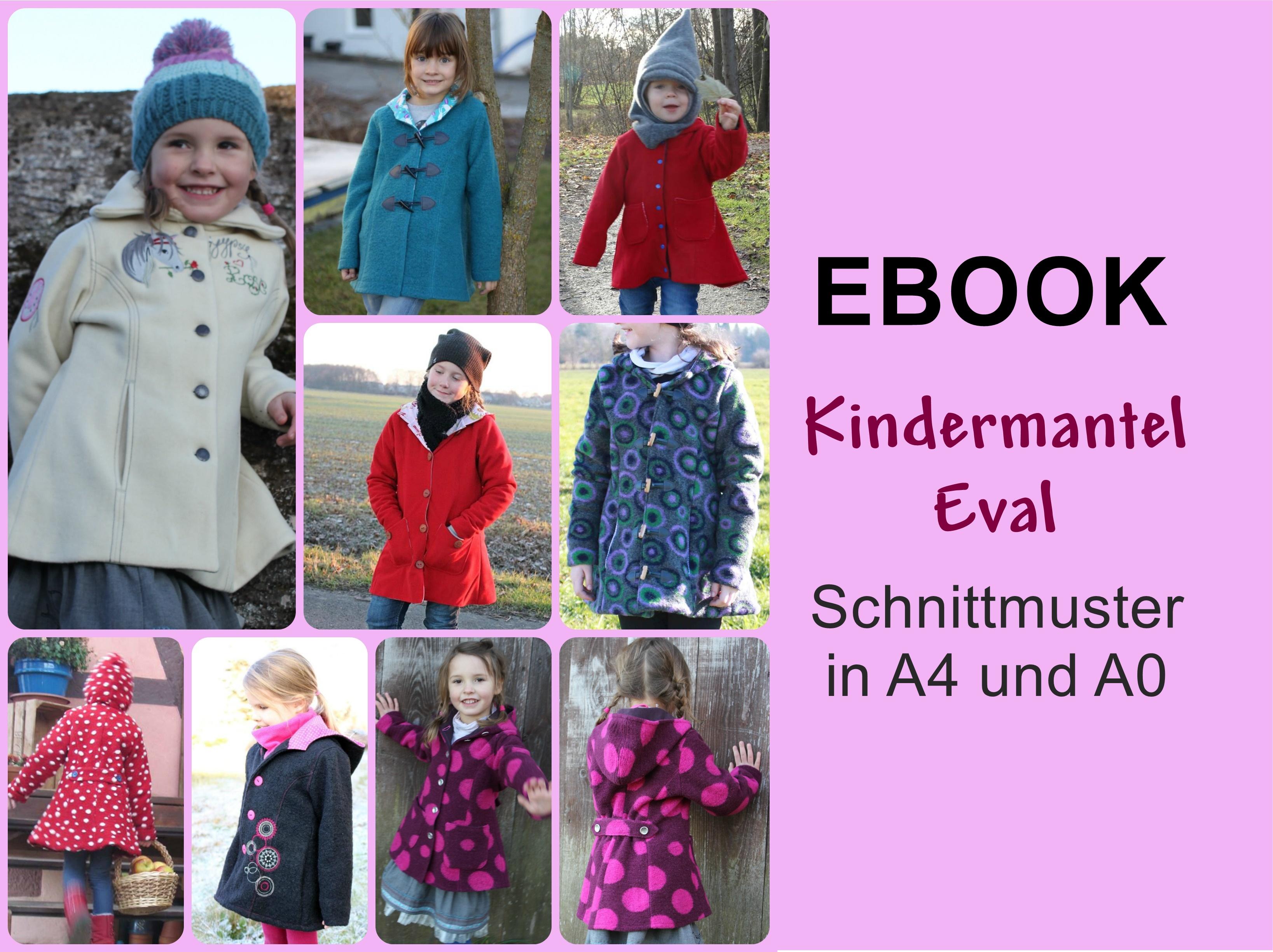 Kindermantel Eval Mantel Ebook Schnittmuster mit Anleitung