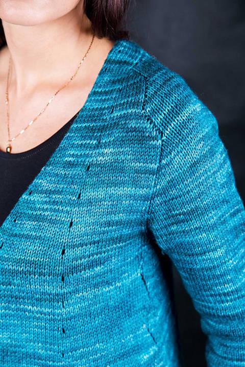 Tanta - Strickjacke mit breitem Schalkragen bei Makerist sofort runterladen
