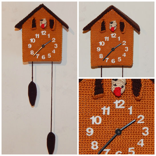 Häkelanleitung Kuckucksuhr mit echtem Uhrwerk - Häkelanleitungen bei Makerist sofort runterladen