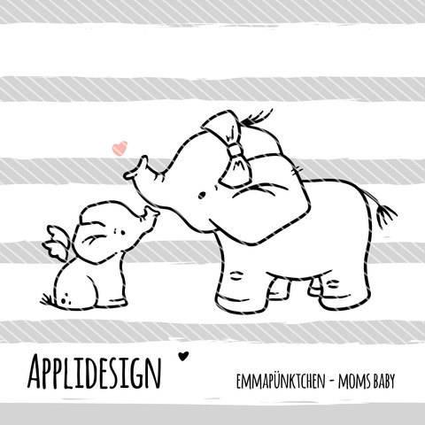 emmapünktchen ® - applikationsvorlage moms baby bei Makerist sofort runterladen