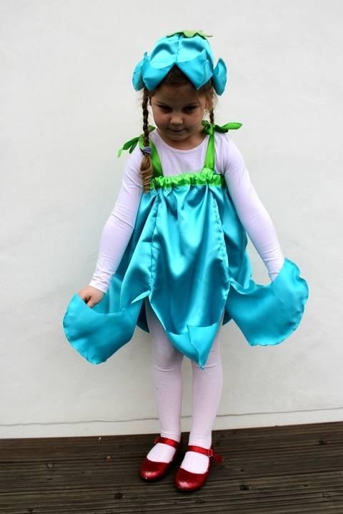Nähanleitung E-Book Faschings Kostüm Glockenblume Blumen-Elfe bei Makerist sofort runterladen