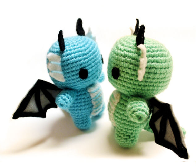 Download Baby Dragon Amigurumi Crochet Pattern - Crochet Patterns immediately at Makerist