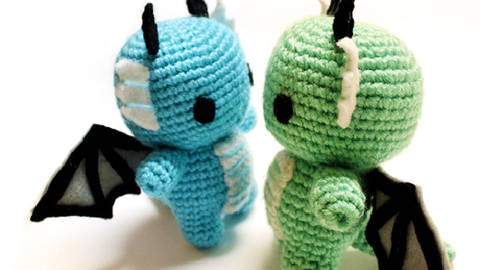 Amigurumi Baby Dragon : Crochet dragon security blankie u appledainty