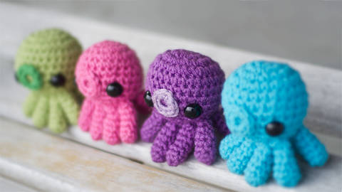 Download Baby Octopus Amigurumi Crochet Pattern immediately at Makerist