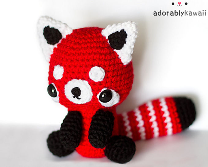 Download Red Panda Amigurumi Crochet Pattern - Crochet Patterns immediately at Makerist