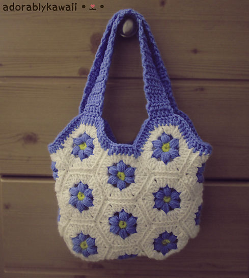 Download Flower Hexagon Bag Crochet Pattern - Crochet Patterns immediately at Makerist