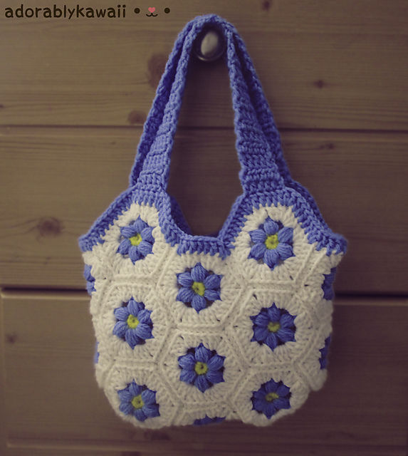 Flower Hexagon Bag Crochet Pattern