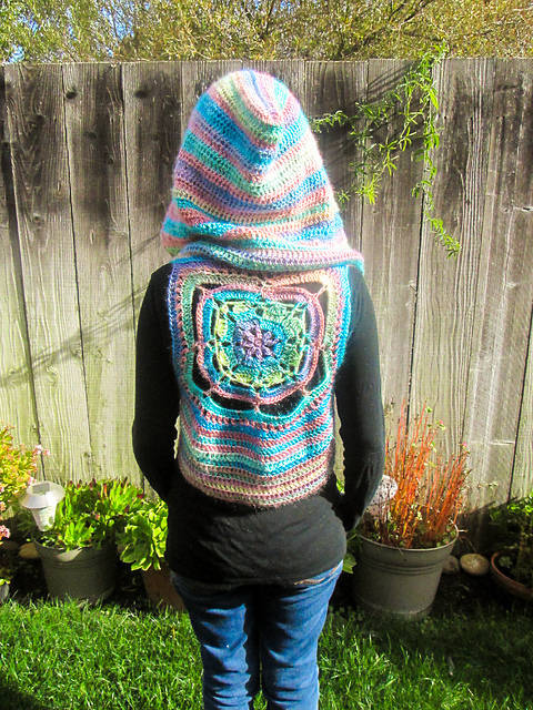 Download Fairy Hooded Vest Crochet Pattern immediately at Makerist
