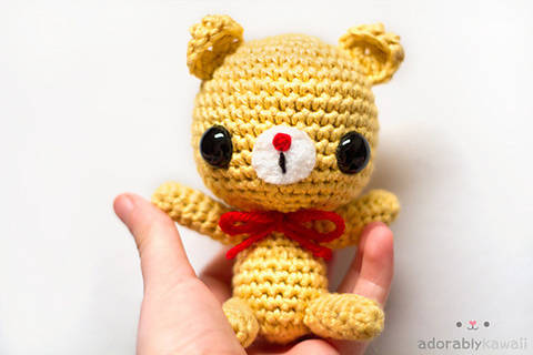 Download Baby Bear Amigurumi Crochet Pattern immediately at Makerist