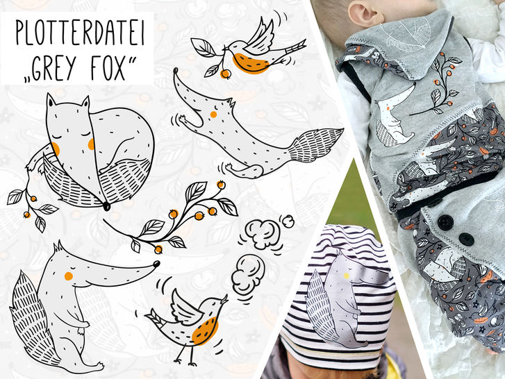 Plottervorlage Grey Fox - Plotterdateien bei Makerist sofort runterladen