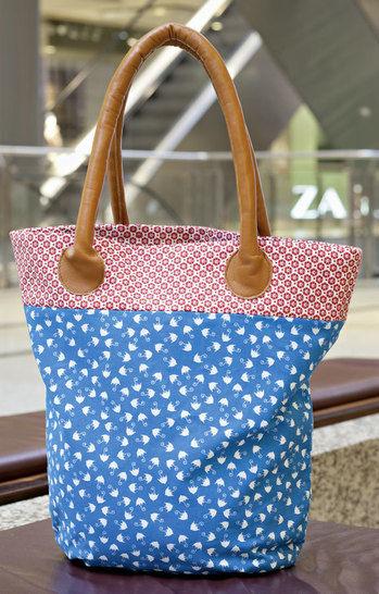 Tasche mit Ledergriffen Nähanleitung - Nähanleitungen bei Makerist sofort runterladen