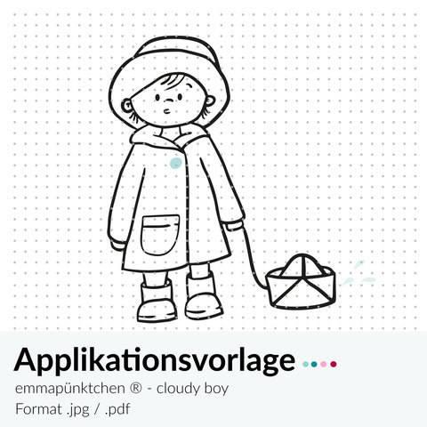 emmapünktchen ® - applikationsvorlage rainy boy bei Makerist sofort runterladen