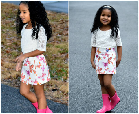 Download GIRLS SKIRT SEWING PATTERN, PDF SEWING PATTERN, BEGINNER, WRAP SKIRT SEWING PATTERN immediately at Makerist