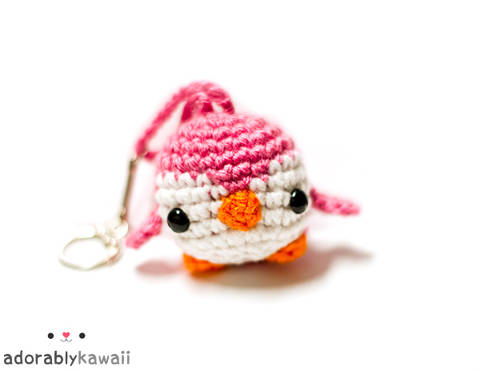 Download Mini Penguin Amigurumi Keychain Crochet Pattern immediately at Makerist